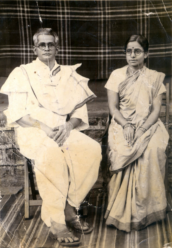 Photograph of Shri and Smt Nannappa Hegde (1930s)